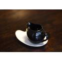 brocca Latte/ crema Sphere Nero +Piattino